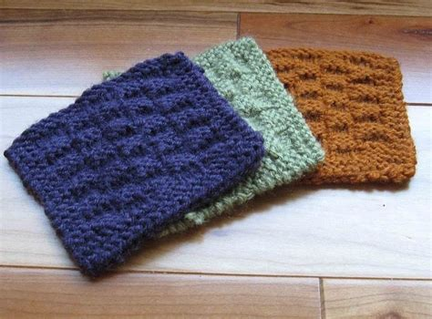 knitted coaster pattern free knit basket or checkerboard coasters 183 how to stitch a
