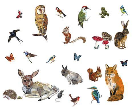 Wall Sticker Design sticker les animaux 2 lot de 27 stickers multicolore