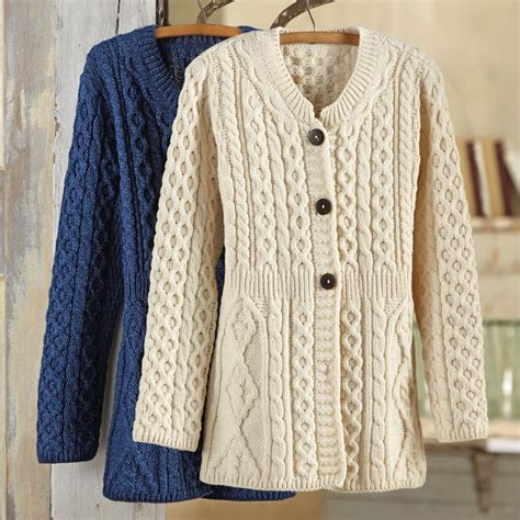 how to knit aran sweater s aran sweater jacket national geographic store