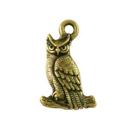 pewter charms for jewelry owl charm 22x14mm pewter antique brass plated wholesale