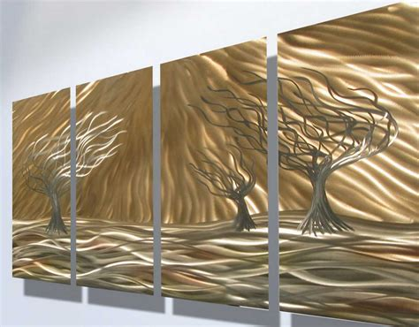 decorative metal trees metal decorative wall with contemporary shiny trees