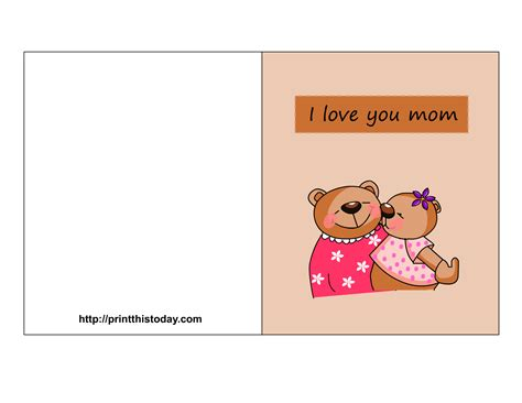 printable mothers day cards for to make free s day cards printable