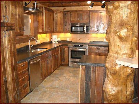 kitchen bright smart lighting in reclaimed wood kitchen