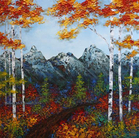 acrylic painting mountains mountains mckinnon artist