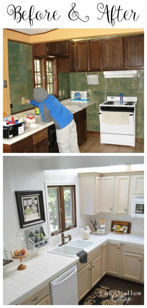 before and after cottage makeover cottage kitchen mini makeover fox hollow cottage