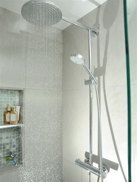 bathroom shower heads hansgrohe raindance showerhead houzz
