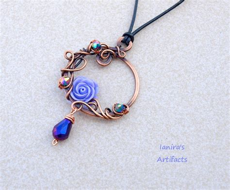 how to make wire jewelry pendants copper wire wrapped pendant by ianirasartifacts