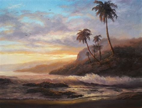 bob ross painting channel quot island sunset quot painting by kevin hill check out my