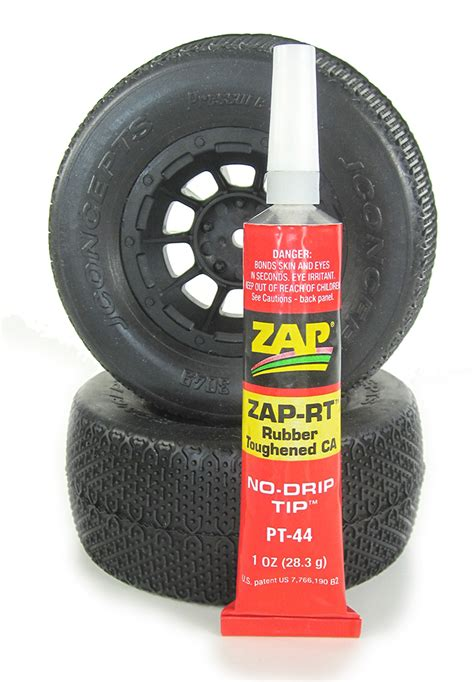 tire bead glue tested zap rt rubber toughened ca rc car