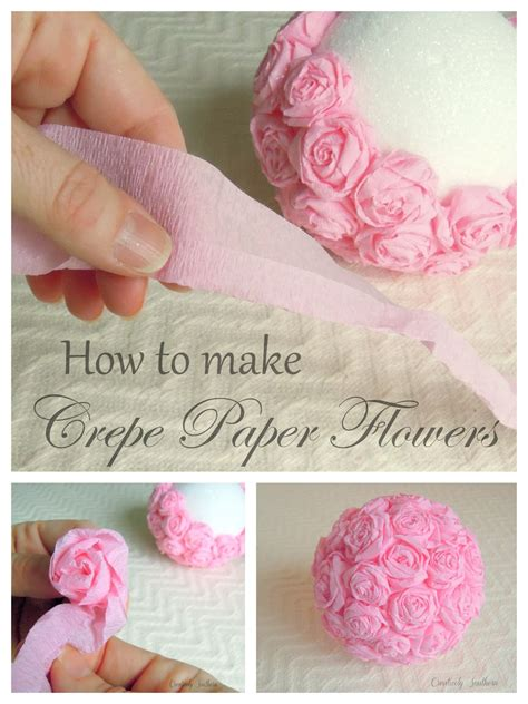 how to make from flowers crepe paper flowers craft idea