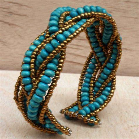 pics of beaded bracelets beaded bracelet with turquoise wooden