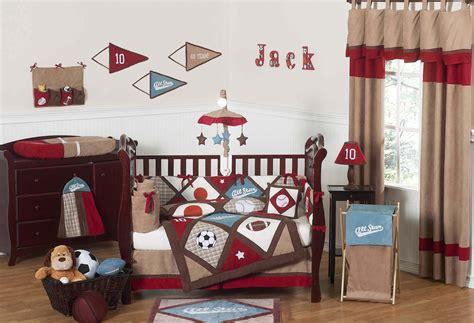 sports crib bedding all sports baby boy crib bedding 9pc nursery set