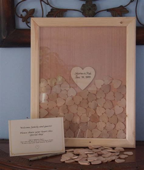 picture frame guest book wedding custom shadow box guest book frame bridal supplies wedding