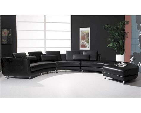 contemporary leather sectional sofa leather sectional sofa ottoman in contemporary style 44l6043
