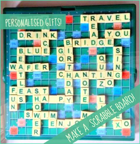make a word in scrabble diy personalised scrabble board the craftables
