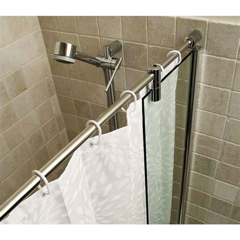 bath shower rails kudos ultimate bath shower panel curved rail uk