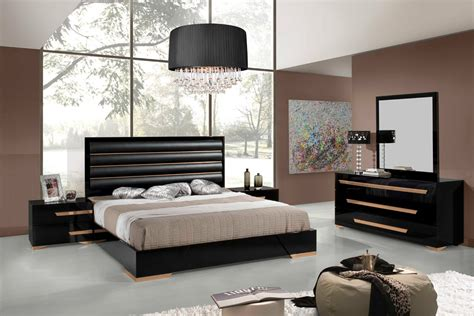 black and white modern bedrooms domus romeo italian modern black rosegold bedroom set