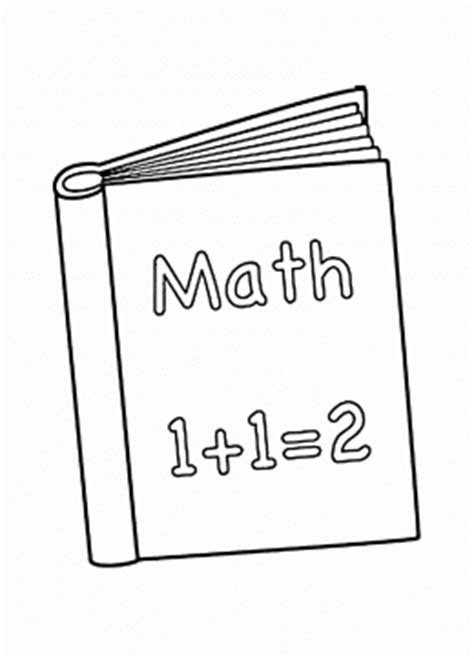 math book pictures back to school coloring pages for big collection of