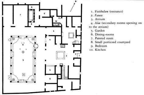 house of the vettii floor plan plan house of the vettii pompeii italy imperial