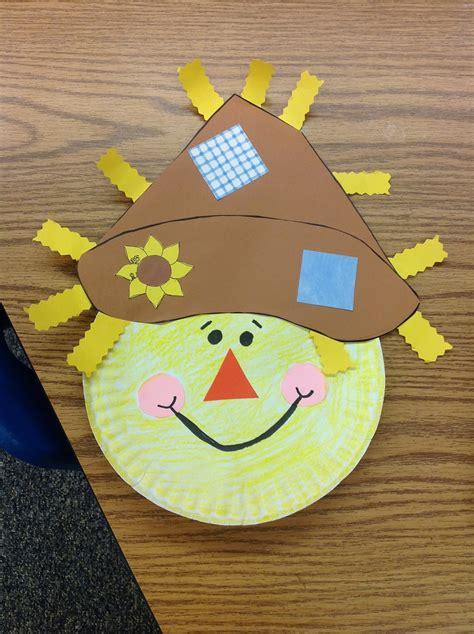 scarecrow paper plate craft fantastic graders september 2012