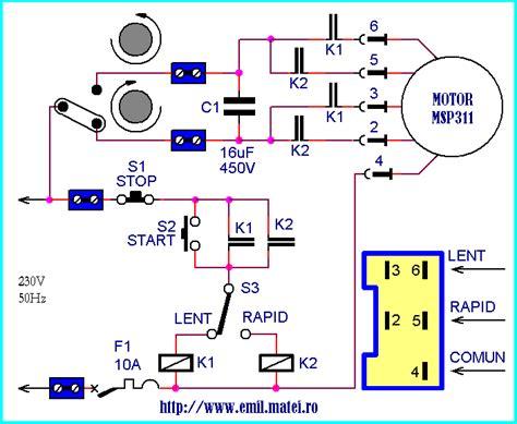 Legaturi Motoare Electrice Monofazate by Emil Matei Reutilizarea Motorului Cu 2 Viteze De La