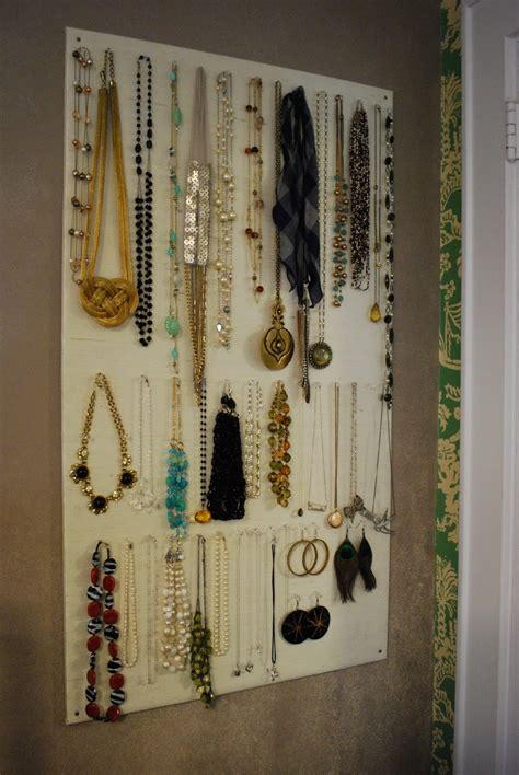 how to make jewelry hanger diy homasote jewelry organizer effortless style
