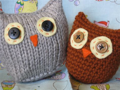 knitting patterns for owls of stitches owls two ways free pattern