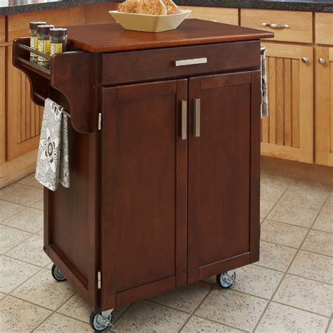 cherry kitchen island cart cherry finish oak top cuisine cart contemporary kitchen islands and kitchen carts by