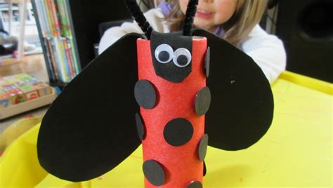 ladybug toilet paper roll craft easy toilet paper roll ladybug crafts for
