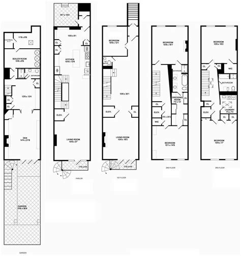 narrow bathroom floor plans david koepp lists manhattan townhouse variety
