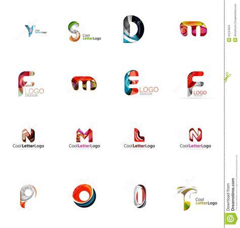 company idea set of universal company logo ideas business icon stock