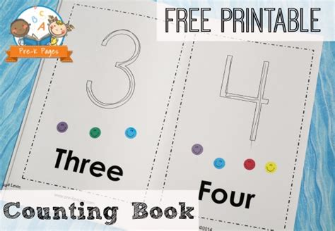 printable picture books printable counting book