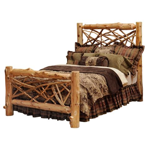 log bed rustic beds size twig log bed black forest decor