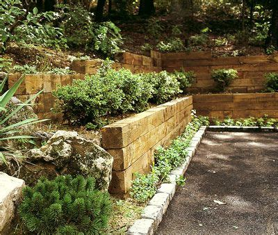 retaining walls for gardens railroad tie wall retaining wall ideas