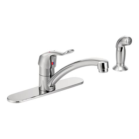 industrial kitchen faucet moen m dura commercial single handle standard kitchen faucet with side sprayer in chrome 8707