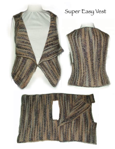 easy knit vest for beginners simple knitting vest patterns sweater grey