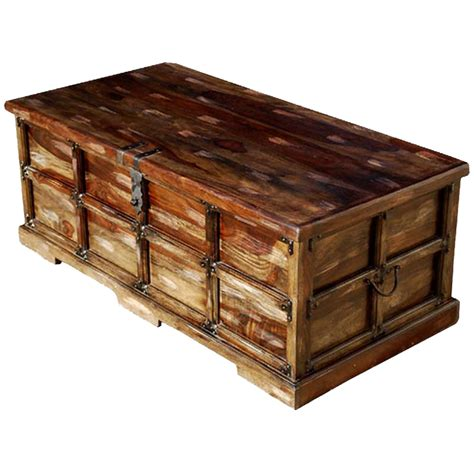 trunk coffee table beaufort steamer storage trunk rustic coffee table chest