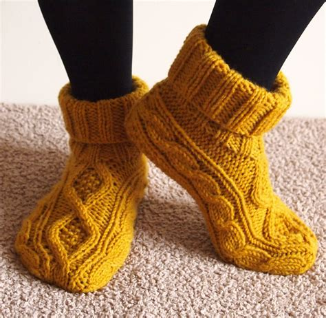 knitting pattern for boot socks slipper socks and boots knitting patterns in the loop