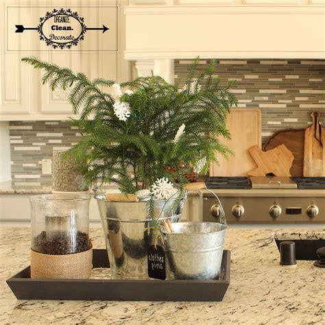 decorating a kitchen island kitchen island tray organize clean decorate