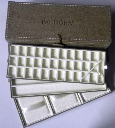 pandora bead jewelry box authentic new pandora brown suede jewelry box with gift