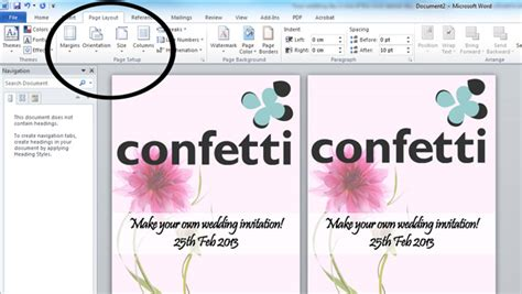 how to make a invitation card on microsoft word how to make your own wedding invitations confetti co uk