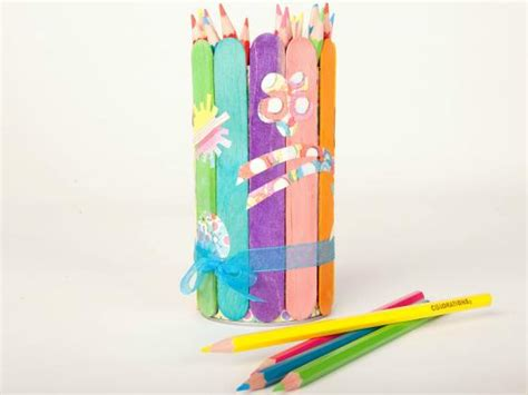 pencil holder craft ideas for craft stick pencil holder crafts activities for