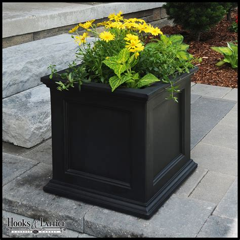 black planters prestige 20x20 patio planter black