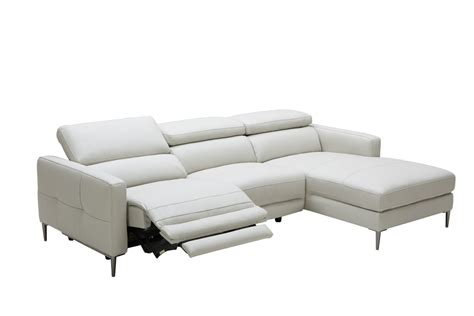 leather sofa electric recliner divani casa booth modern light grey leather sectional sofa