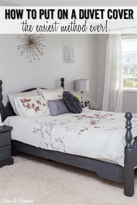 how to put duvet cover the easiest way to put on a duvet cover clean and scentsible