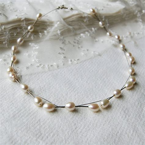 how to make a wire necklace with freshwater pearl and wire necklace by highland