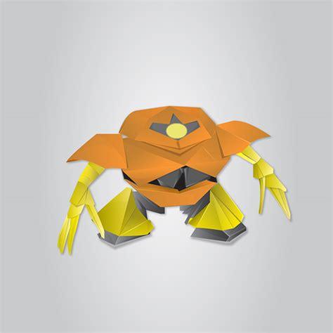 origami fox mask origami vector illustration on behance