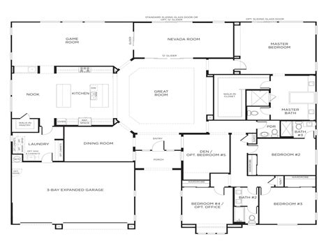 5 bedroom house plans single story 5 bedroom house floor plans our two bedroom
