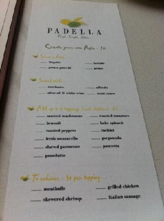 make your own report card create your own pasta card picture of padella marietta