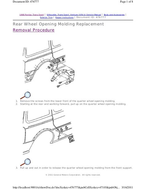 service and repair manuals 1998 pontiac trans sport electronic throttle control 1999 pontiac trans sport service repair manual
